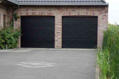 Porte de garage S100 Noir